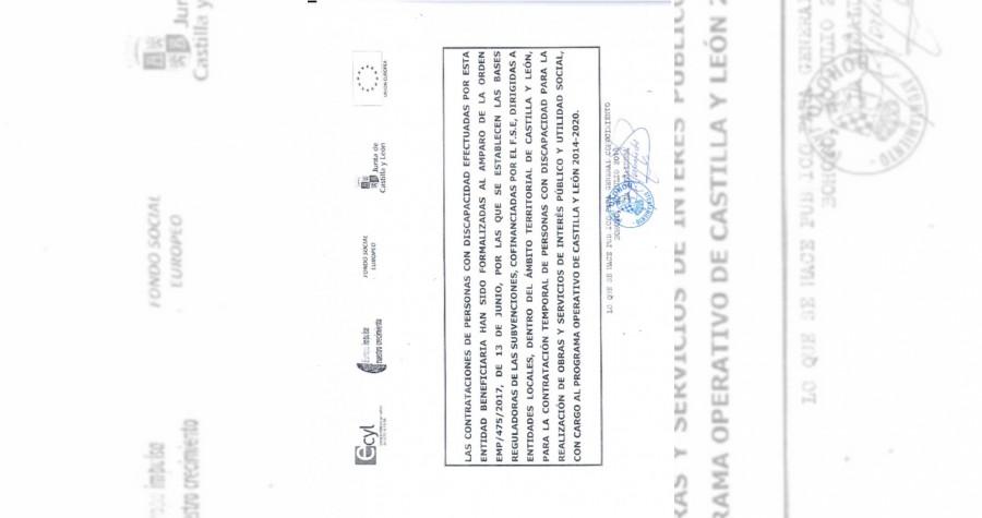Contrataciones discapacidad 2018